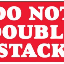 #DL1330  3×5″  Do Not Double Stack Label $13.91/piece
