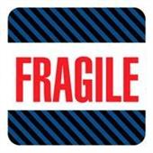 #DL1540  4×4″  Fragile (Black/Blue Stripes) Label $13.91/piece