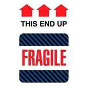 #DL1550  4×6″  Fragile This End Up (Black-Blue Stripes/Arrows) Label $24.29/piece
