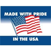 #DL1660  3×4″  Made with Pride In the USA Label $13.91/piece