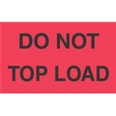 #DL2301  3×5″  Do Not Top Load Label (Fourescent Red/Black) $13.91/piece