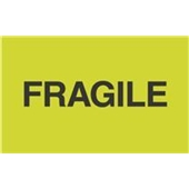 "#DL2421  3×5″  Fragile ""Flourescent Green"" Label $13.91/piece"
