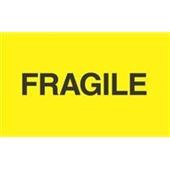 "#DL2422  3×5″  Fragile ""Fluorescent Yellow"" Label $13.91/piece"