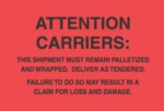 #DL3181  4×6″  Attention Carriers (Fluorescent Red/Black) Label $24.29/piece
