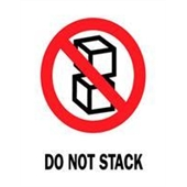 #DL4080  3×4″  Do Not Stack (Boxes) Label $13.57/piece