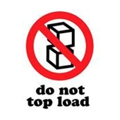 #DL4140  3×4″  Do Not Top Load Label $13.91/piece