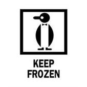 #DL4260  3×4″  Keep Frozen (Penguin) Label $13.91/piece