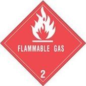 #DL5070  4×4″  Flammable Gas – Hazard Class 2 Label $14.88/piece