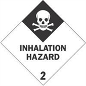 #DL5112  4×4″  Inhalation Hazard – Hazard Class 2 Label $13.91/piece