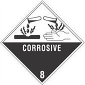 #DL5240  4×4″  Corrosive – Hazard Class 8 Label $13.91/piece