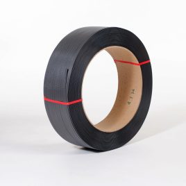 1/2″x7,200` .027 500#  16×6 Black Hand Grade Poly Strapping #H1250EMB072T7 $46.97/piece