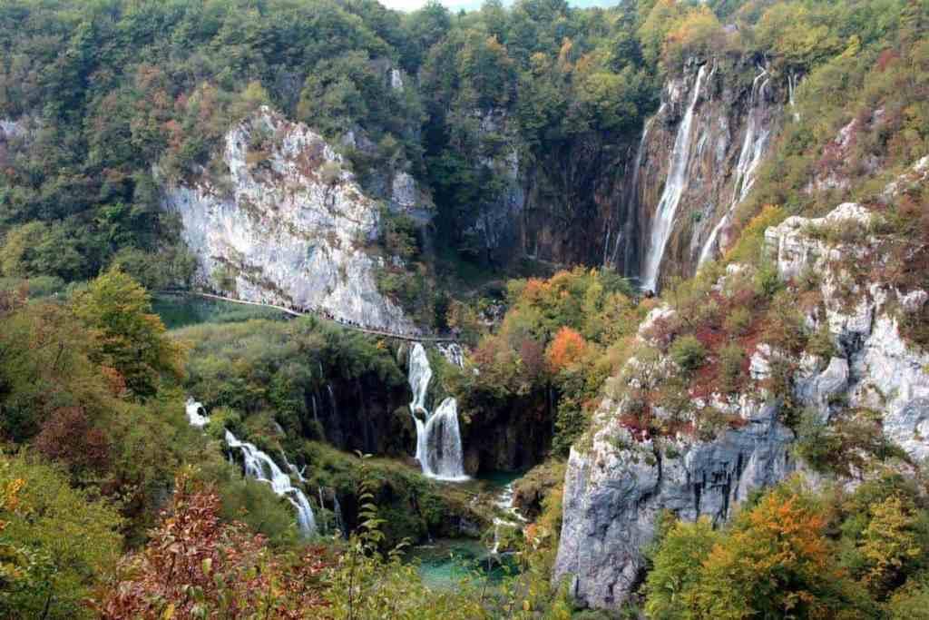 Veliki slap waterfall In Plitvice National Park, Croatia