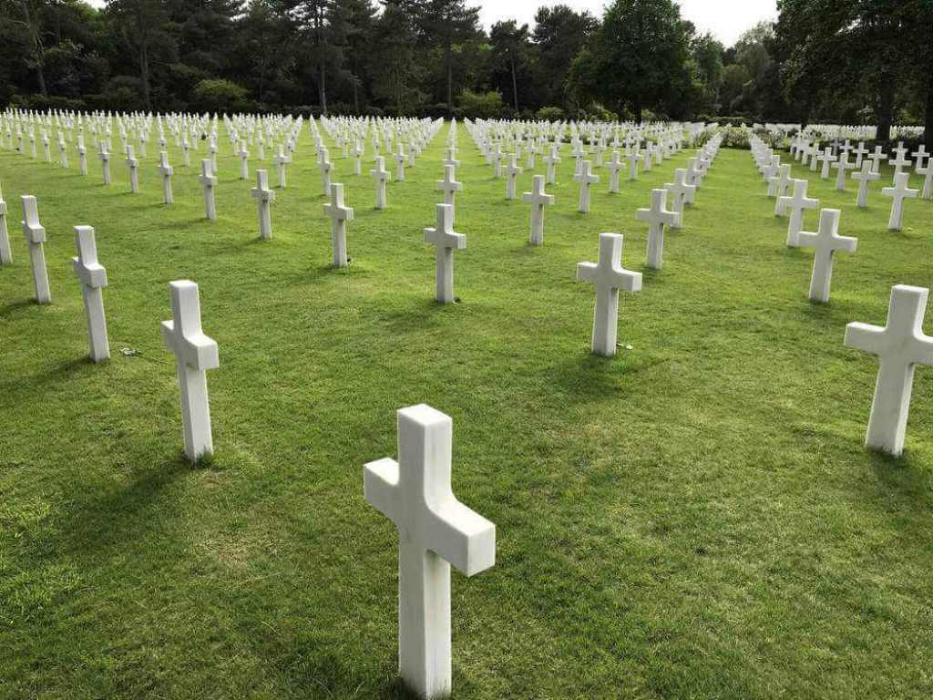 Crosses in the American Military Cemetary