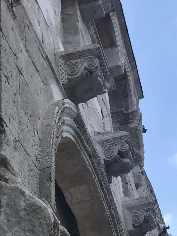 Diocletian palace walls in Split Croatia