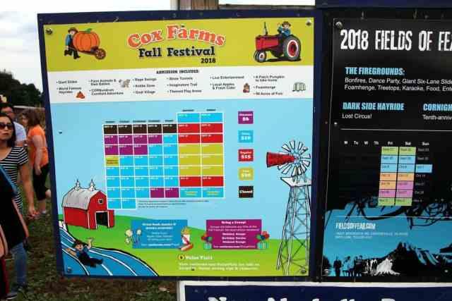 Cox Farms Calendar