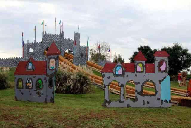 Cox Farms Castle Slides