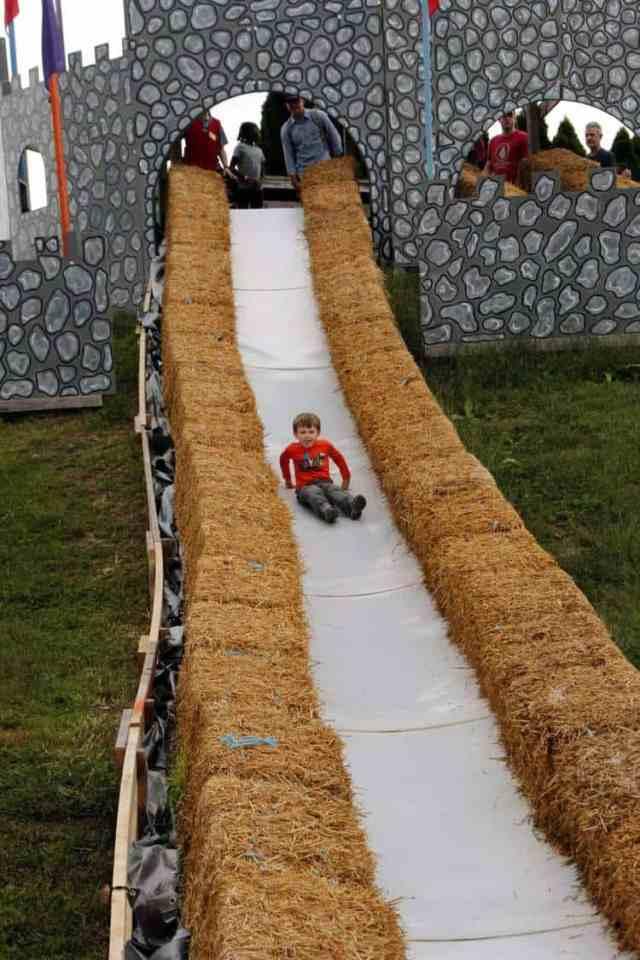 Cox Farms Castle Slide