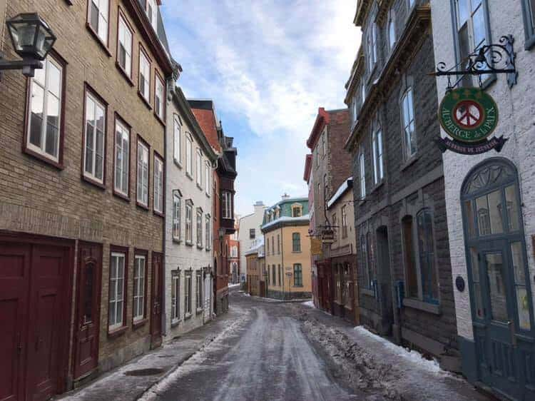 The beautiful streets of Quebec City, Canada