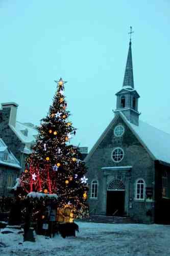 Place Royale with the oldest church in North America