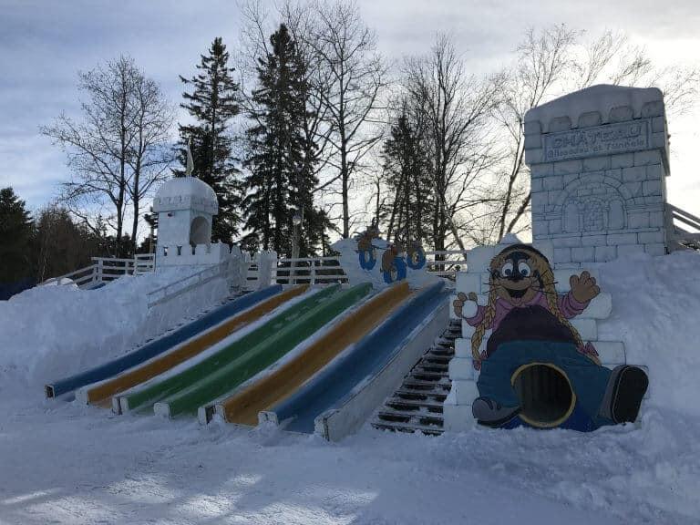 Village Vacances Valcartier Quebec, Canada kids winter playground