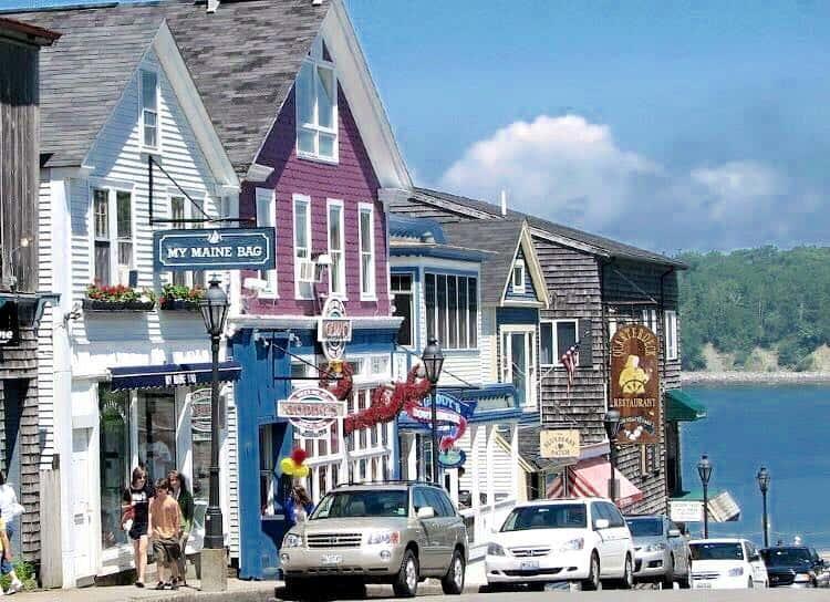 Streets of Bar Harbor, Maine