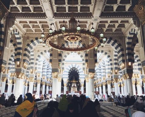 Interior of Masjid Al-Nabawi