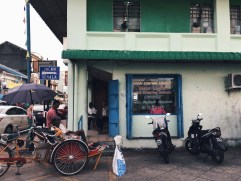 A barber shop in Little India