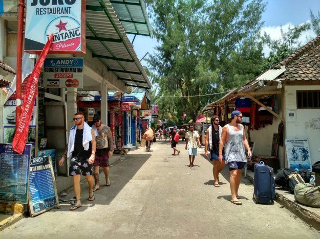 Main street in Gili T