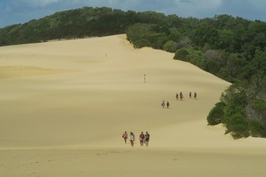 Massive sand dunes