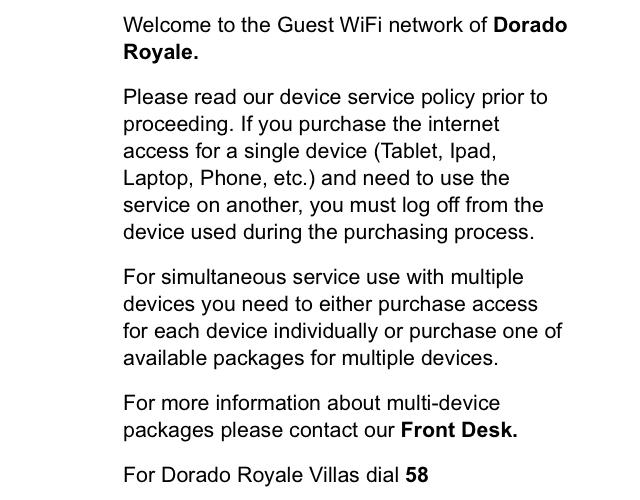 El Dorado Royale Internet Prices