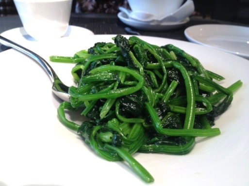 Poached garlic spinach 水煮菠菜