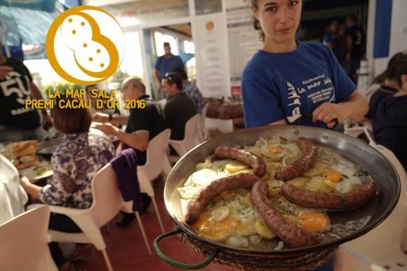 Una muestra de los abundantes y singulares almuerzos de La Mar Salá (Cullera)