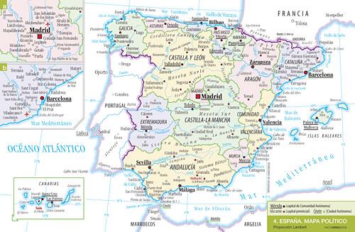 Cartografía: Mapa político de España
