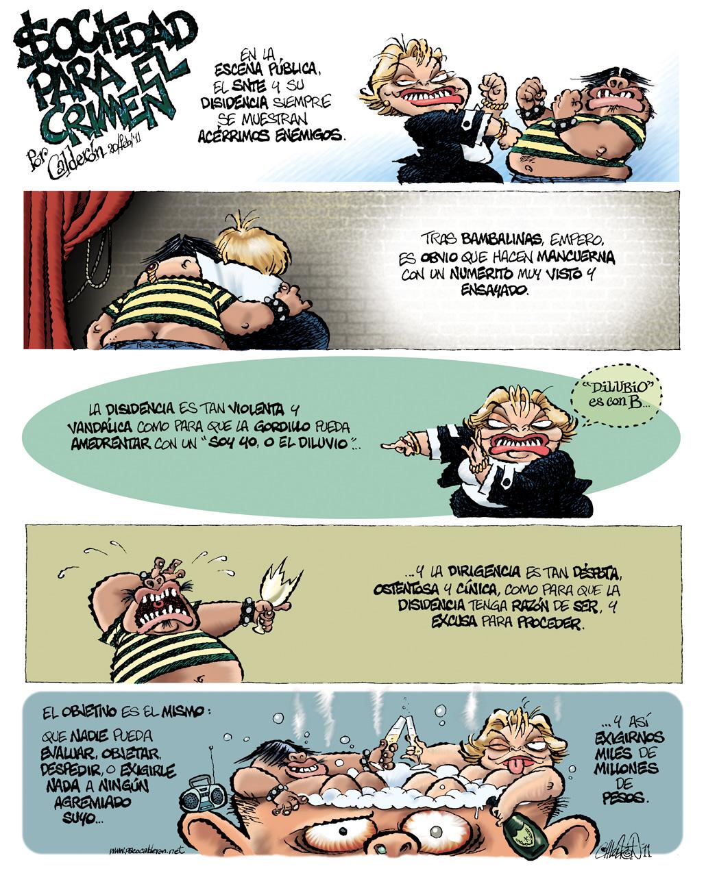 $ociedad para el crimen - Calderón