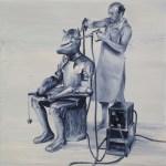 Franken (Oil on canvas. 60 x 60 cm. 2011)