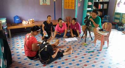 Our very own videographer, Didi, recording a traditional poetry recital.