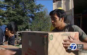 Vishank Battar Eagle Project moving boxes of shoes