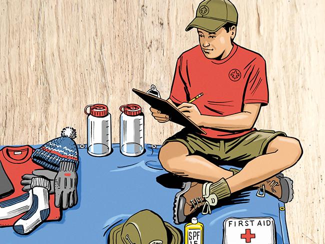 Camping gear illustration