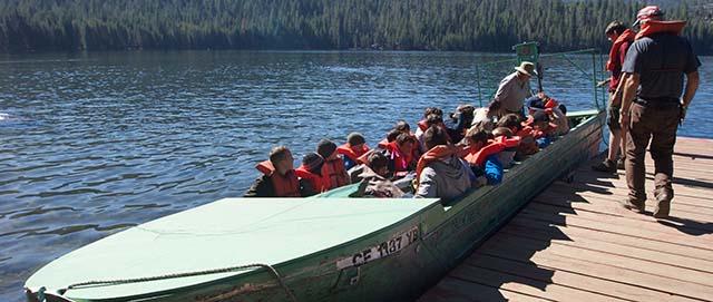 Camp Oljato barge
