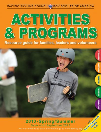 2014 Activities & Programs guide cover