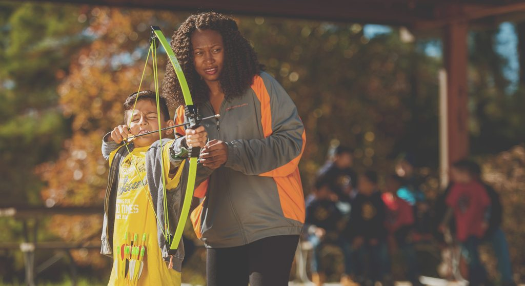 Mother son archery