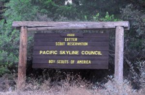 Cutter Scout Reservation sign