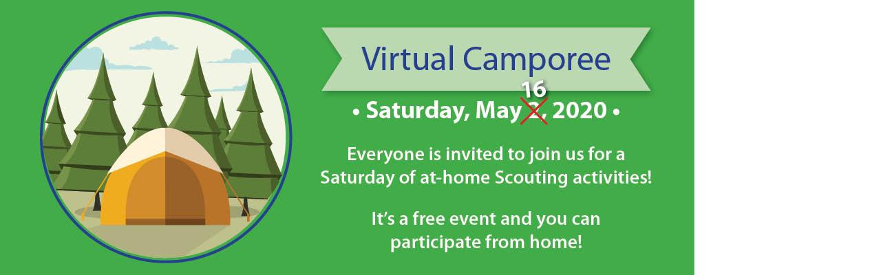 2020 Virtual Camporee banner, May 16, 2020
