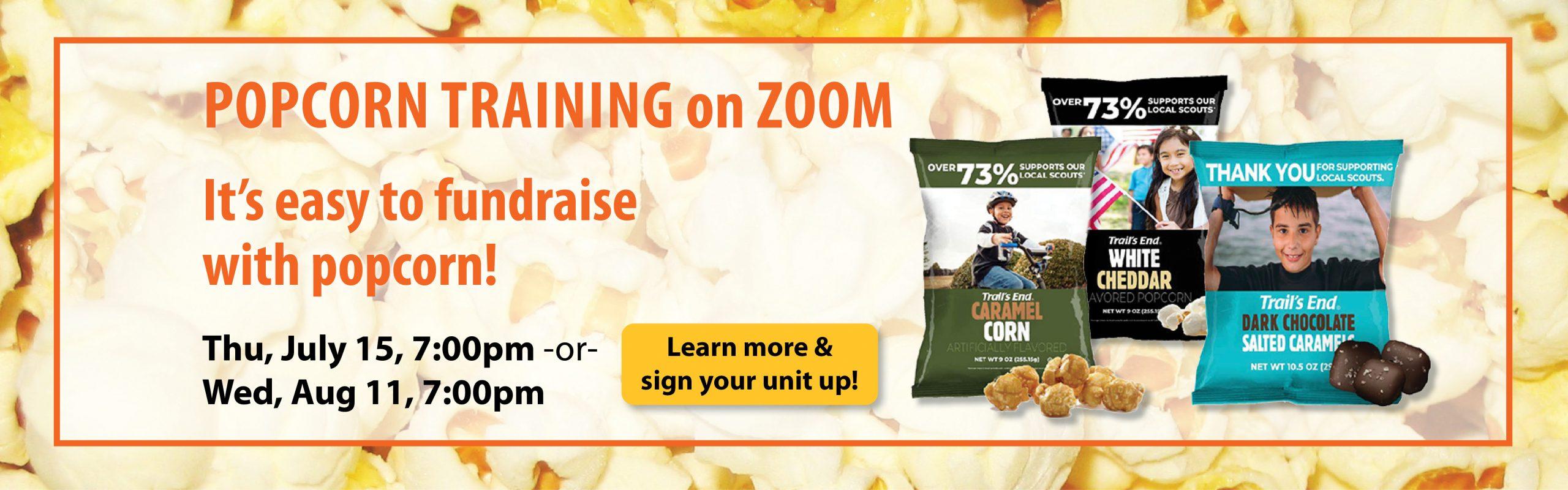 2021 Popcorn Training banner