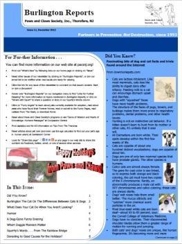 Burlington Reports - December 2012
