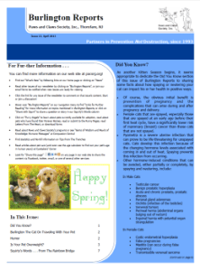 Burlington Reports, April 2013