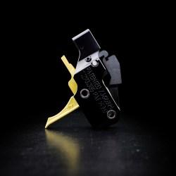 AR Gold Flat Trigger for AR-15