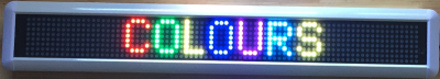 PACTechnika - 7 Colour Sign Display