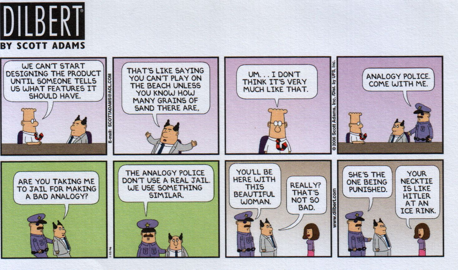 Dilbert Analogy Cartoon Pactiss Philosophers And Critical