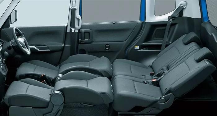 新型デリカD2後部座席シートアレンジフルフラット